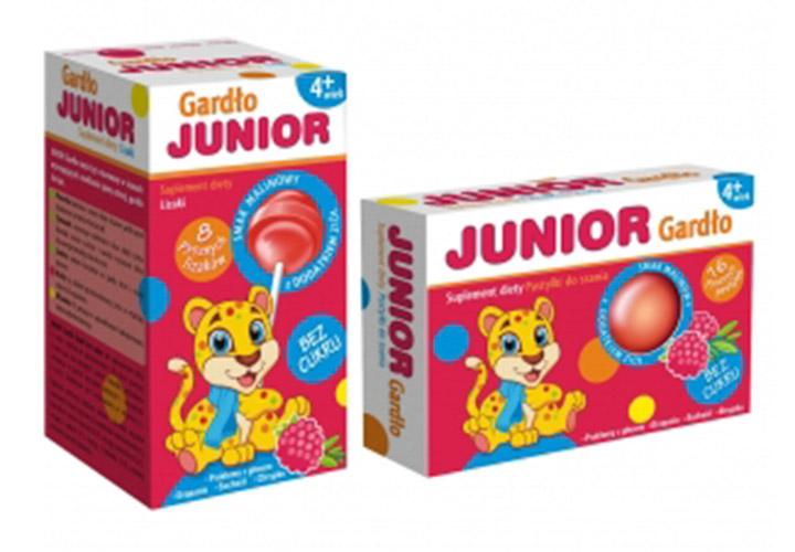 Junior Gardło - bezcukru